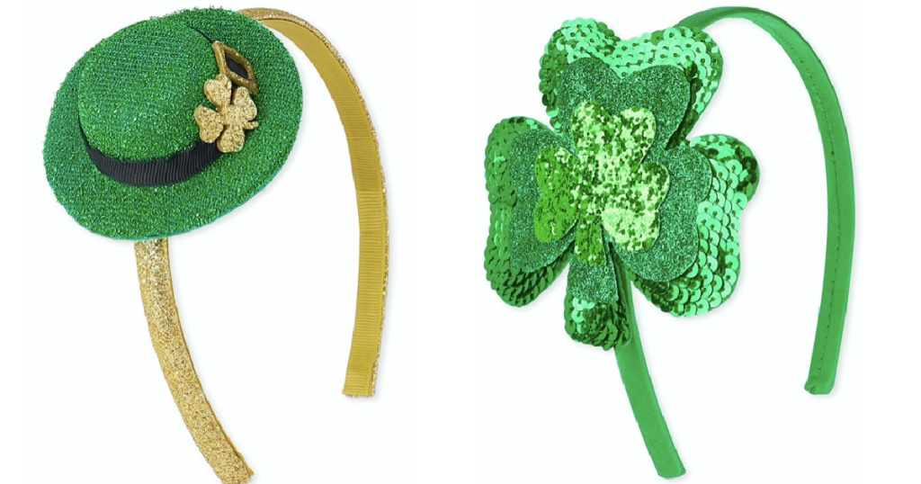 St Paddy's Day headbands from The Children's Place