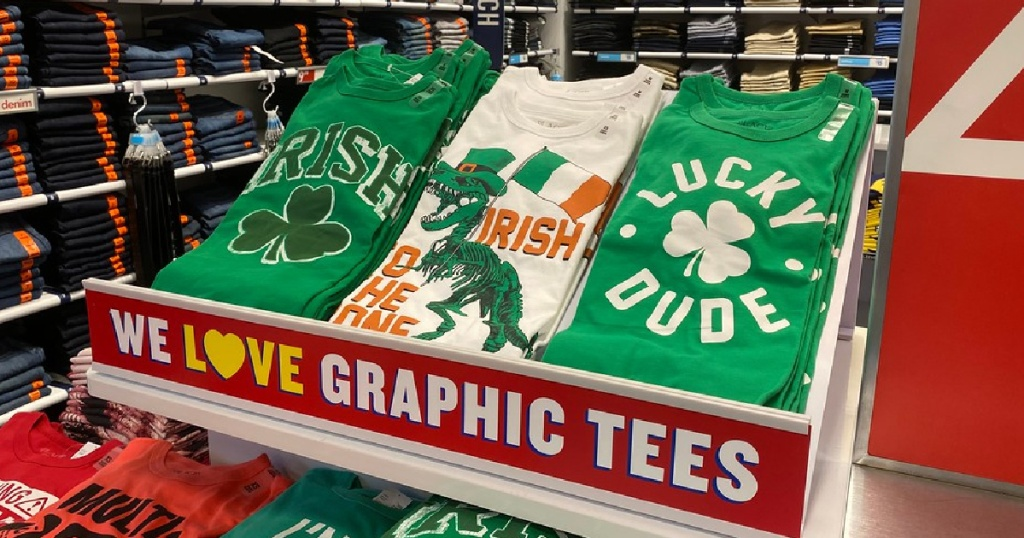 boys st paddy's days shirts at The Children's Place