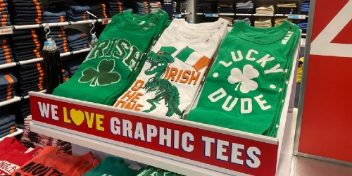 The Children's Place St. Patrick's & Valentine's Day Kids Tees from $2.99 Shipped
