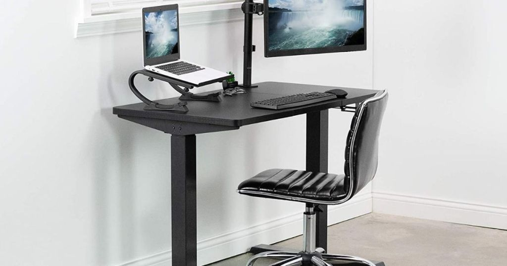desk with a chair by it