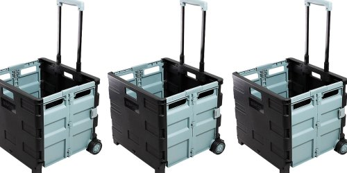Collapsible Wheeled Folding Crate Just $14.99 Shipped on Staples.com (Regularly $30)   Great for Groceries