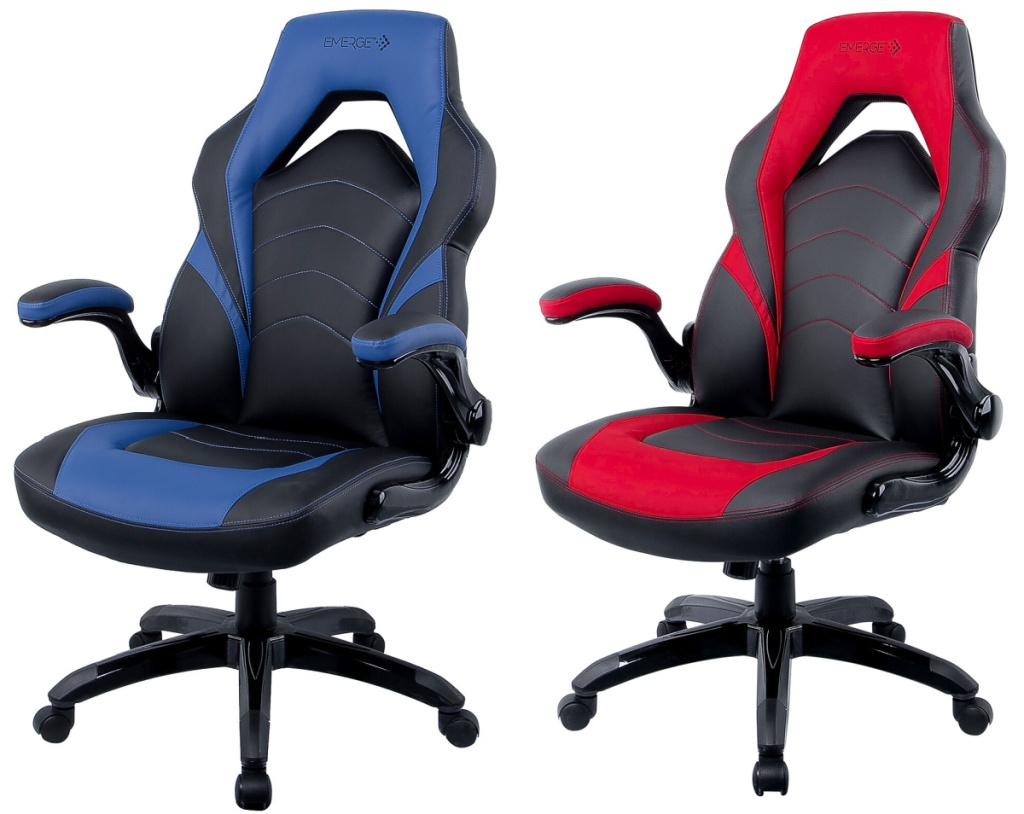 Two colors of gaming chairs