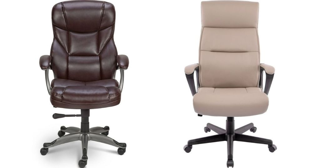 two Staples Office Chairs