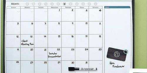 Staples Magnetic Cork & Dry Erase Calendar Whiteboard Only $8.99 Shipped (Regularly $28)