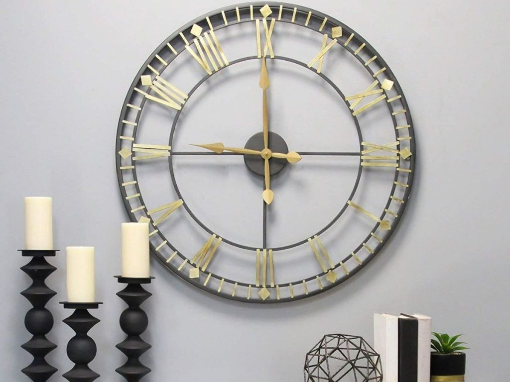 Stratton Home Industrial Clock