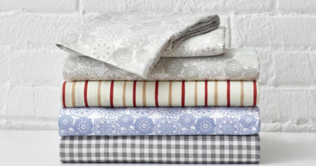 stack of StyleWell Patterned Sheet Sets