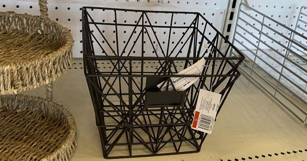 Target Bullseye's Playground Black Wire Basket on shelf