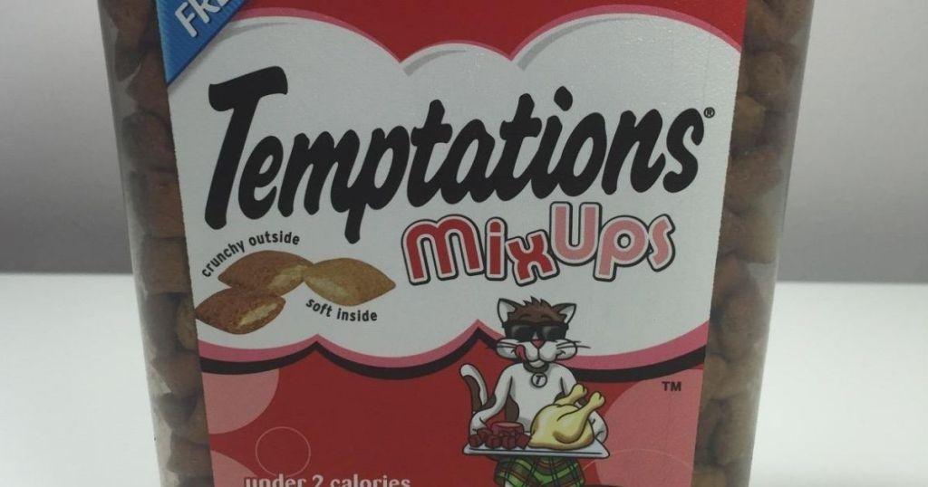 Temptations Cat Treats container