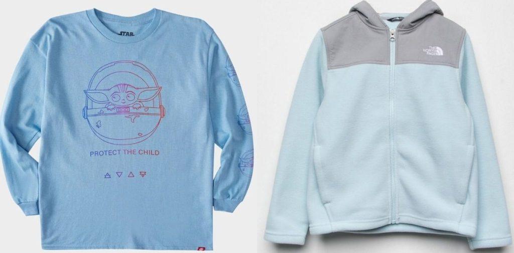 Girls long sleeve t-shirt and fleece
