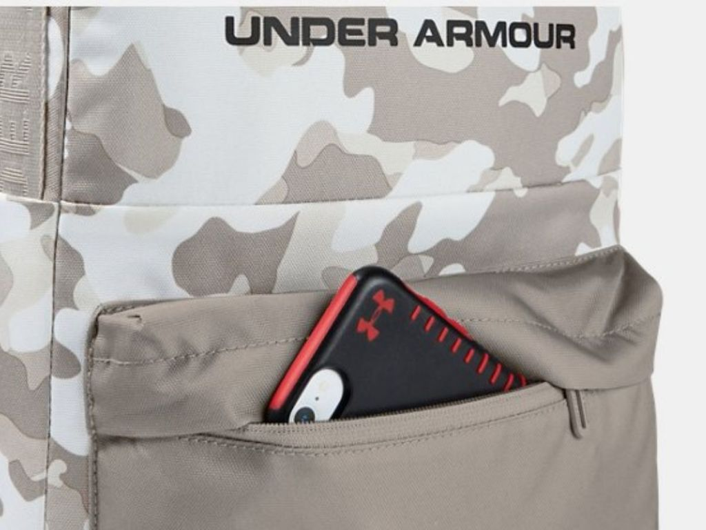 Under Armour Backpack with phone in front pocket