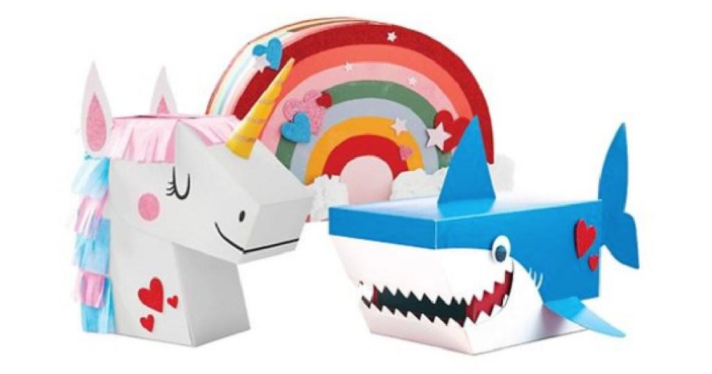 Unicorn Shark and Rainbow Mailboxes