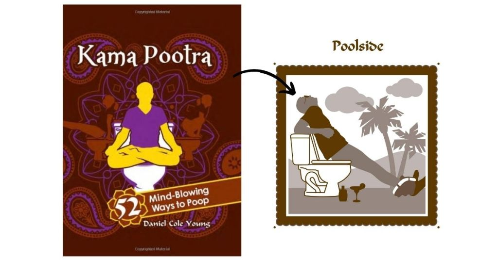 A funny kama pootra book next to a picture from the book