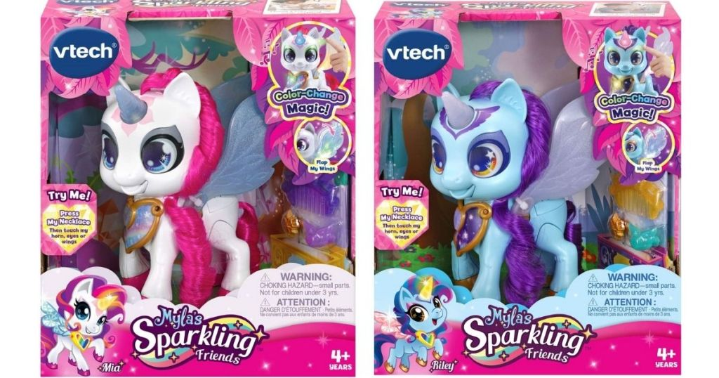 VTech Myla's Sparkling Friends Mia & Riley The Unicorns in packaging