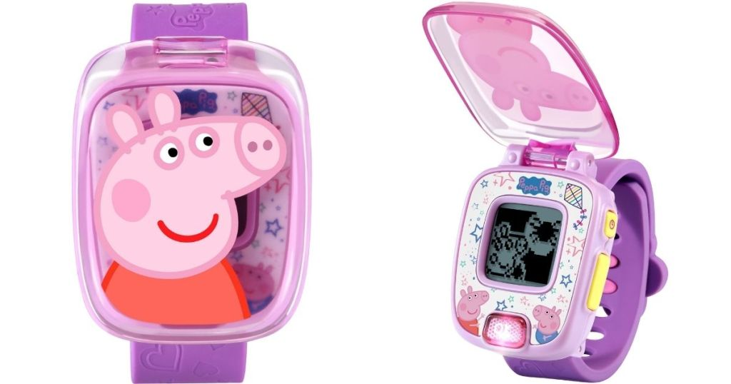 two views of a Peppa Pig watch