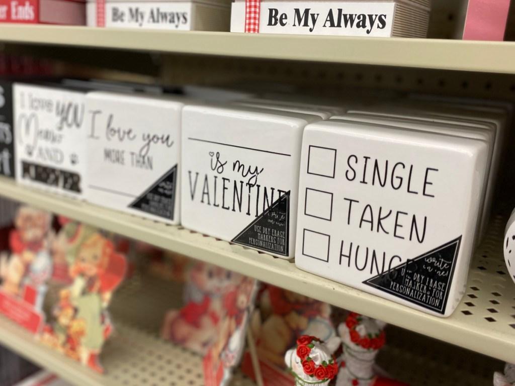 Black & white valentine signs