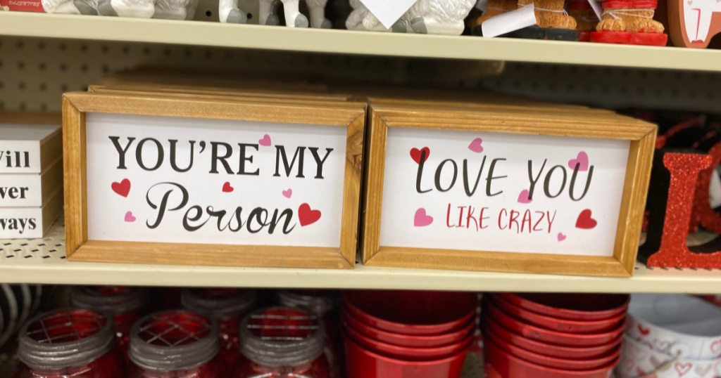 wooden valentine signs at hobby lobby