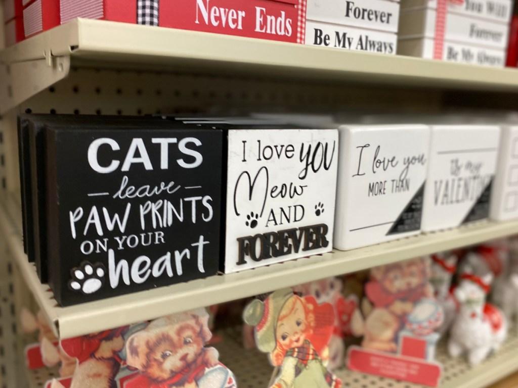 animal valentine signs at hobby lobby