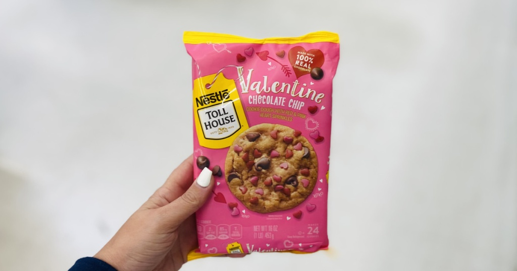 Valentines Chocolate Chip Cookie Dough