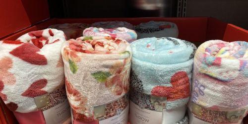 Cozy Valentine Plush Throws Only $7.99 at ALDI