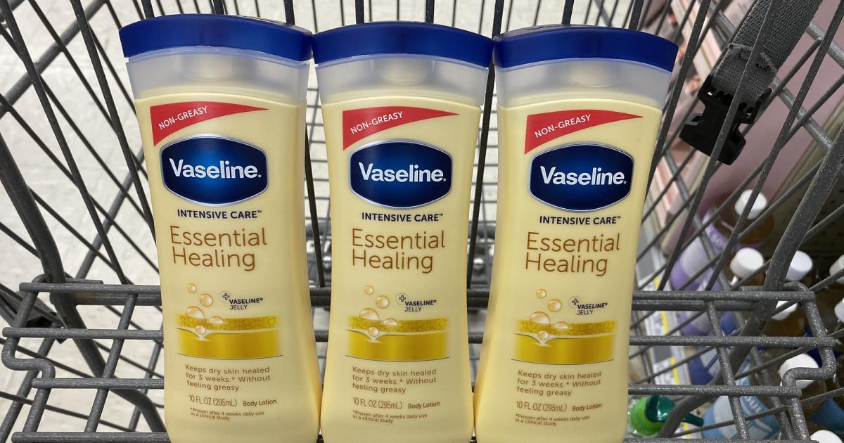 Vaseline Lotions in Walgreens Cart