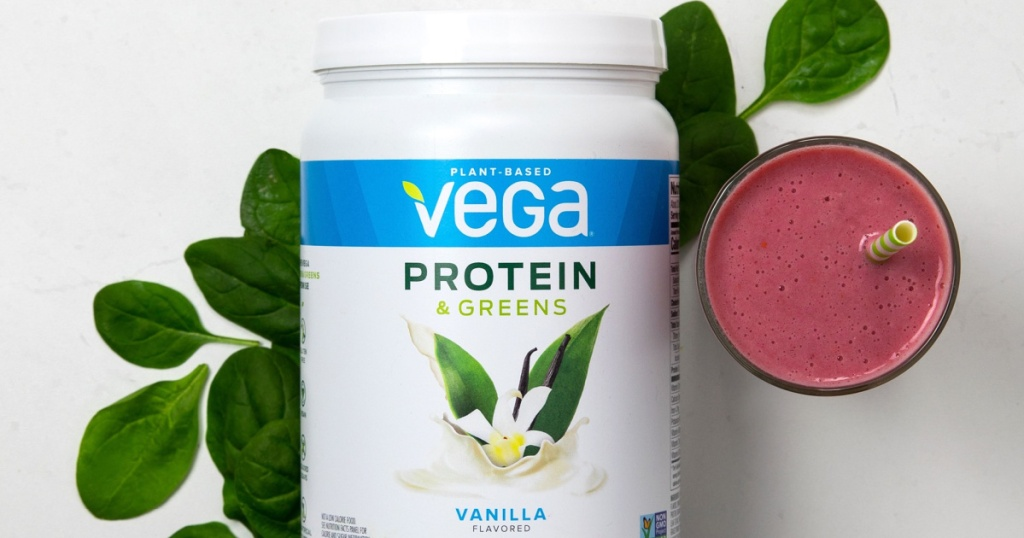 Vega Protein and Greens, Chocolate Flavor, 1 lb 12.7oz Bottle