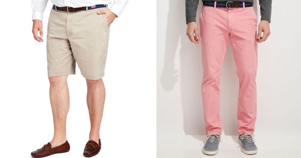 two men wearing Vineyard Vines Men's Shorts and Pants