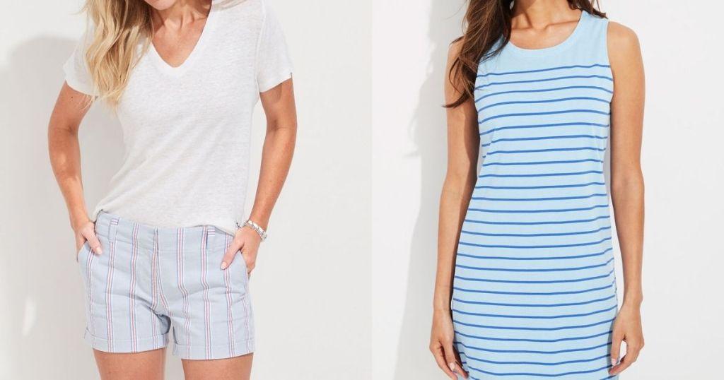 two women modeling Vineyard Vines apparel