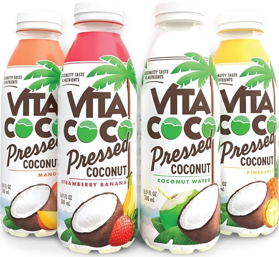Four Vita Coco Pressed Coconut Water drinks