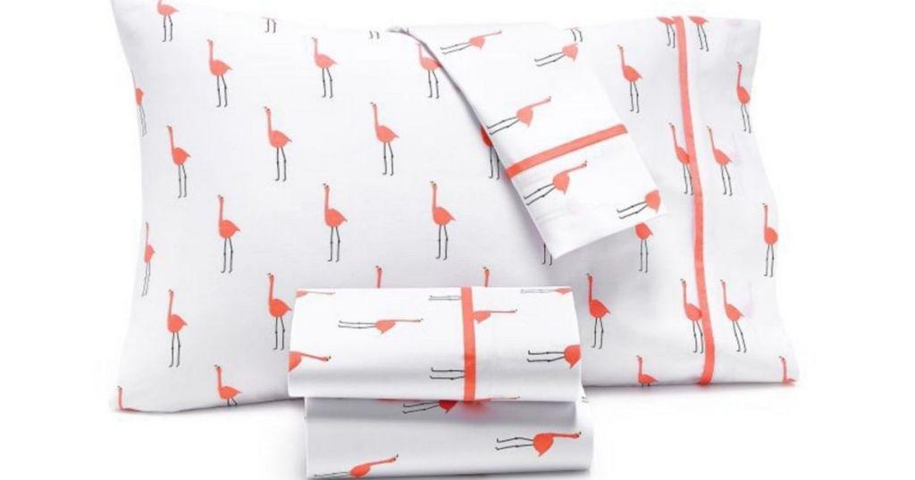 Whim by MArtha Stewart Sheet Sets in Flamingo