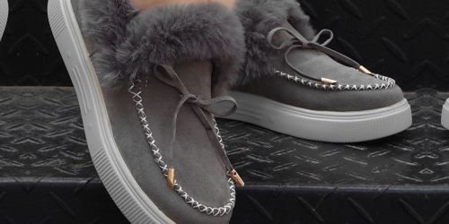 Women's Faux Fur Moccasins Only $12.99 on Zulily.com | 10 Colors Options