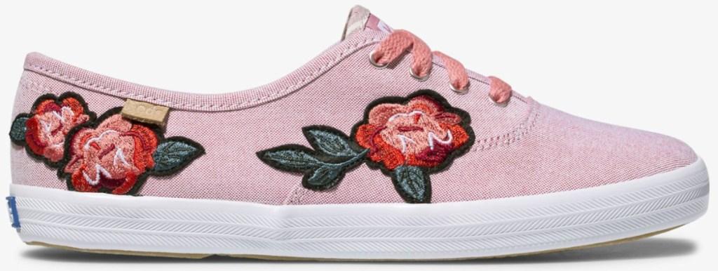 women's floral applique ked shoes