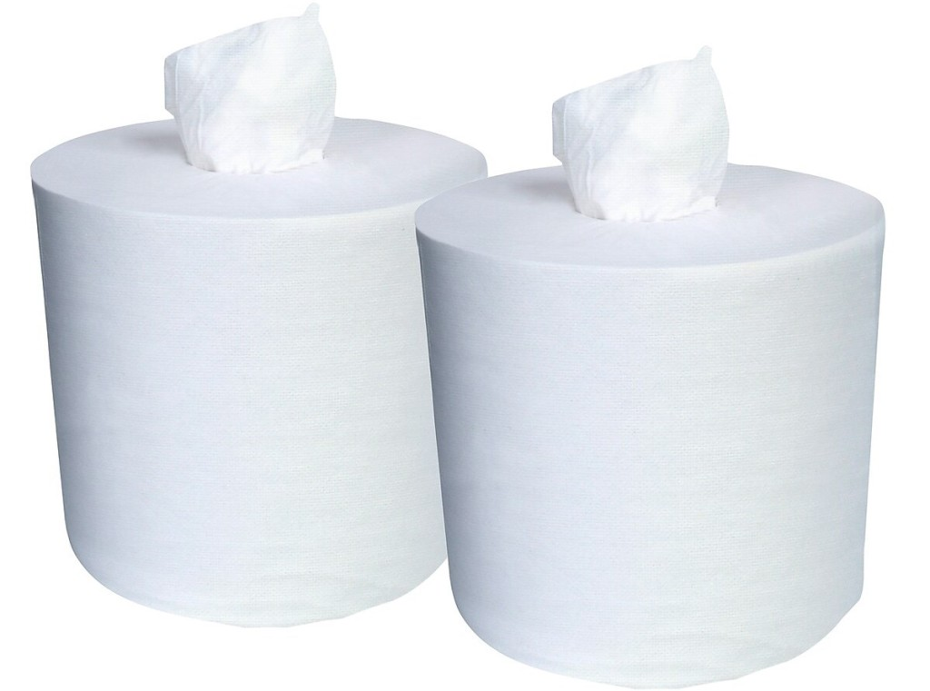 two rolls of paper towels