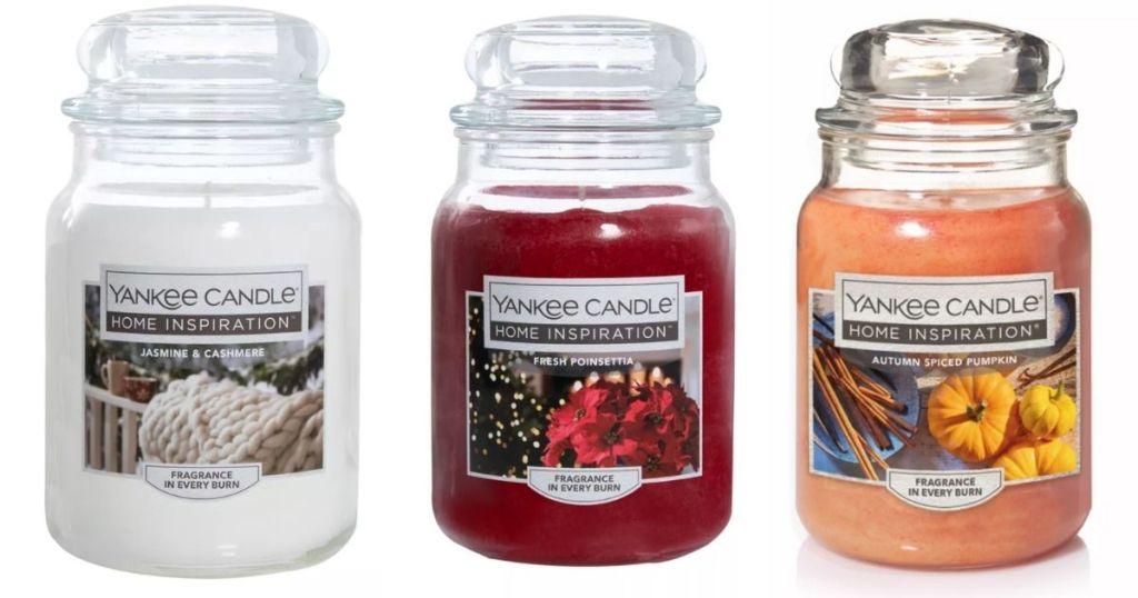 3 Yankee 19oz Jar Candles