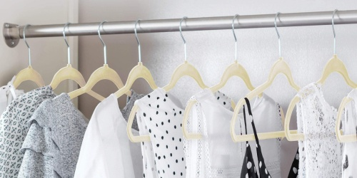 Velvet Non-Slip Hangers 50-Count Only $13.99 on Zulily.com (Regularly $50) | Awesome Reviews