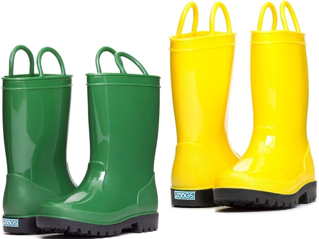 Two Pairs of Zoogs Rain Boots