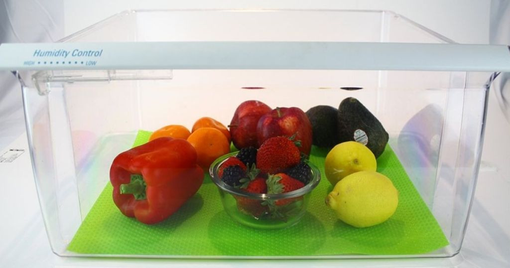 Zulily Kitchen Organization Crisper Drawer Liners with fruit