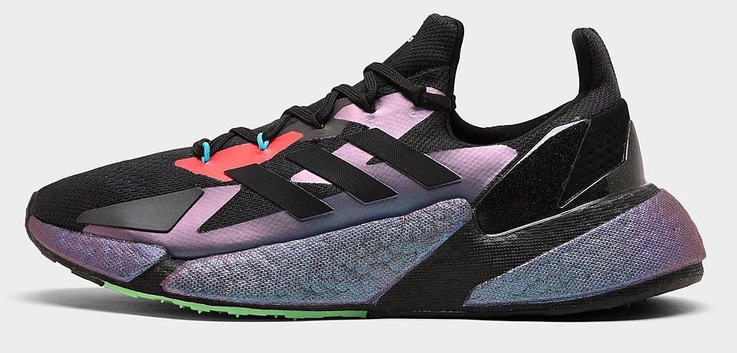 adidas mens X9 running shoes black and pink