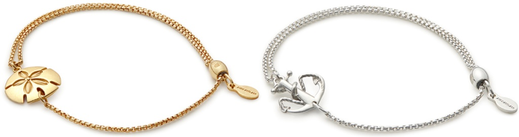 gold and silver charm bracelets