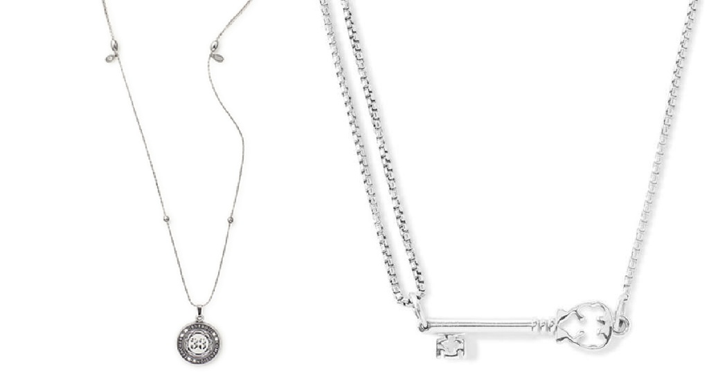 silver drop necklaces