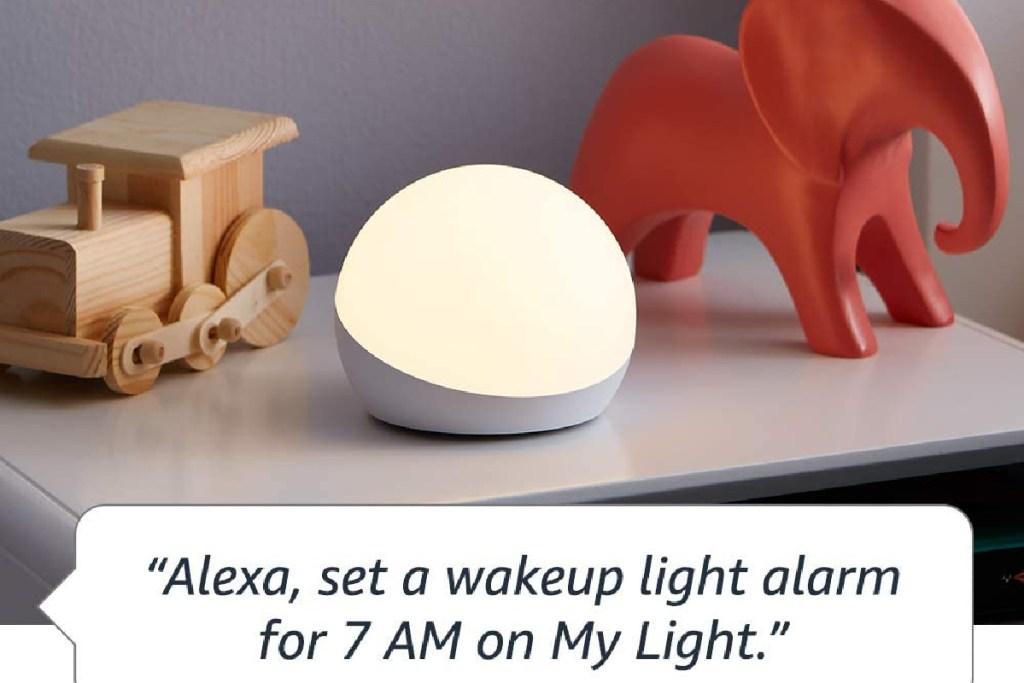 alexa wake up alarm for amazon echo glow