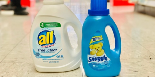 FREE $5 Target Gift Card w/ Purchase of 2 Household Items | Nice Deals on Laundry Detergent, Trash Bags & More