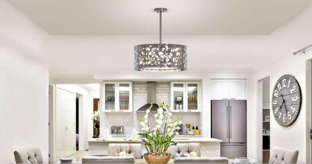 artika expressions light fixture above kitchen table