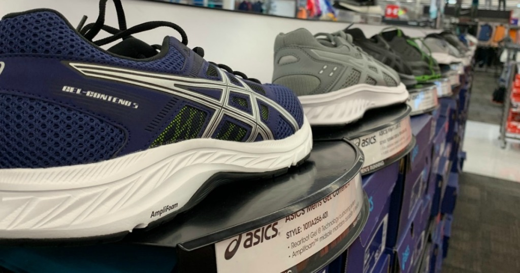 In-store display of running shoes
