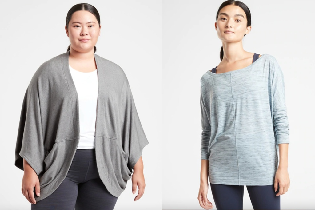athleta cocoon wrap and top