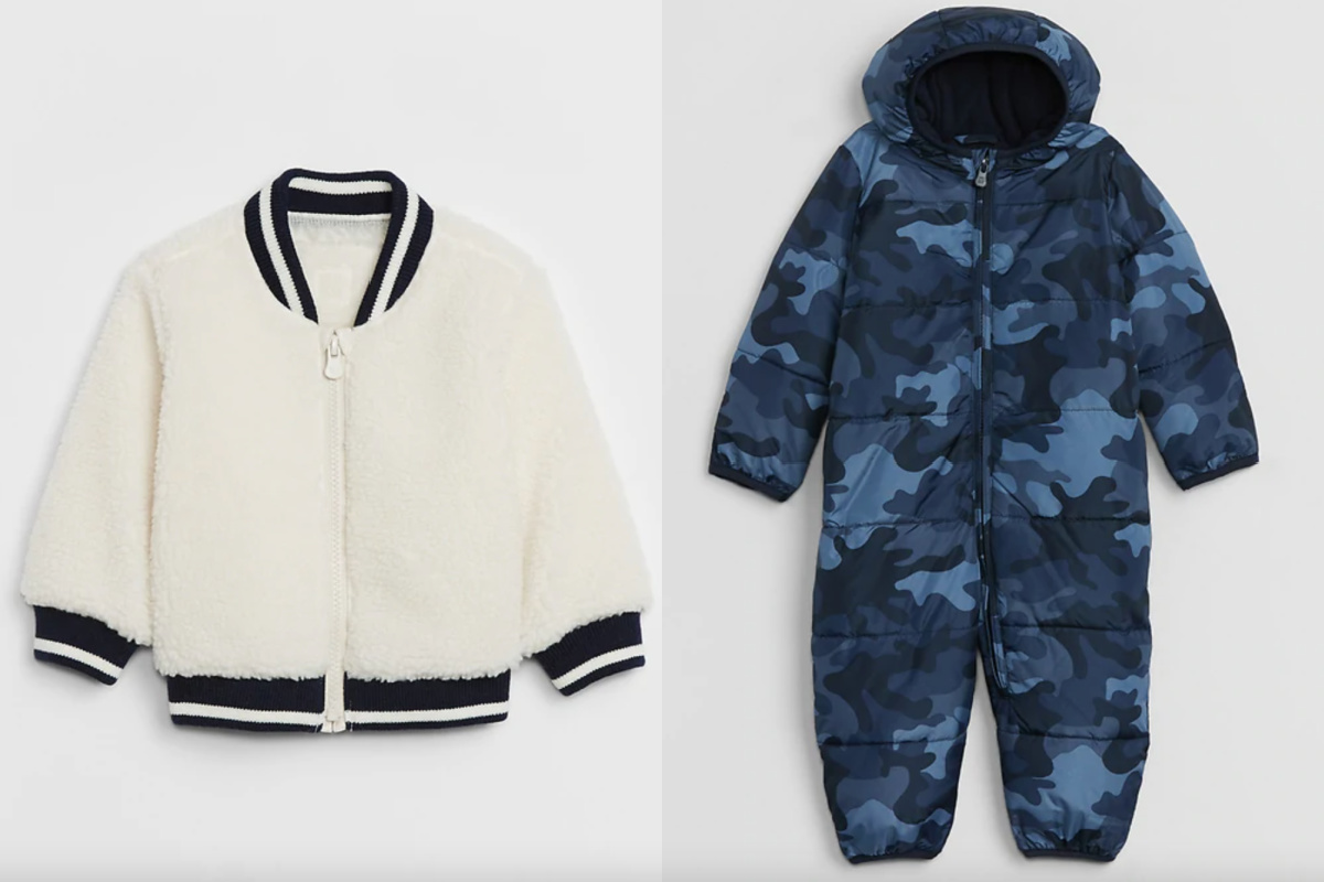 baby GAP outerwear and one piece puffer