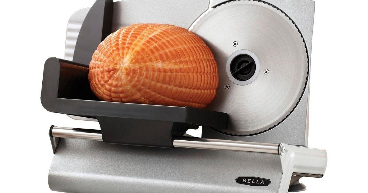 meat slicer slicing ham