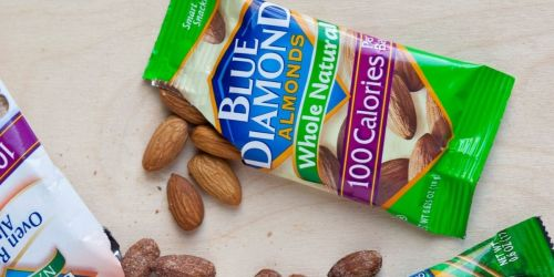 Blue Diamond Almonds 100 Calorie Bags 32-Pack Only $10.36 on Amazon | Just 32¢ Per Bag