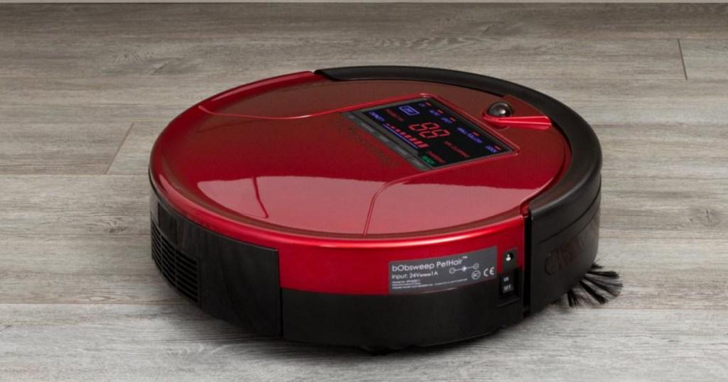 bobsweep pethair in rouge robotic vacuum