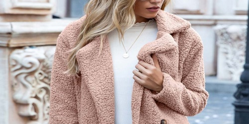 Trendy Women's Plush Peacoats Just $14.99 on Zulily (Regularly $54)