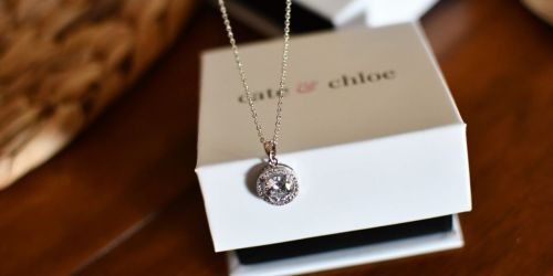 Cate & Chloe 18K Gold Plated Pendant Necklace Only $15.90 Shipped | Great Valentine's Day Gift